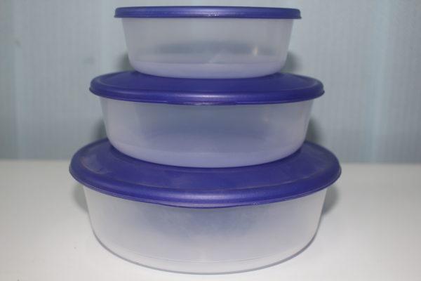 Набір круглих контейнерів для харчових продуктів 3 в 1