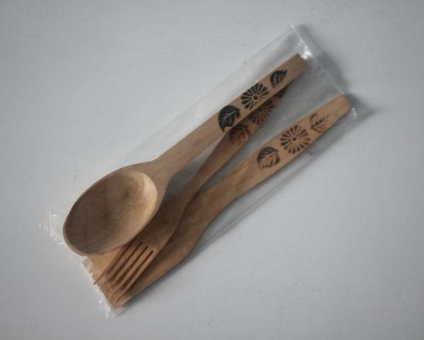 Набір дерев'яний (ложка+виделка+лопатка)