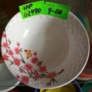 Миска для супу меламінова з квітами